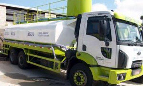 Caminhão pipa água de reuso